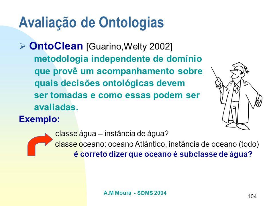 Avaliação de Ontologias