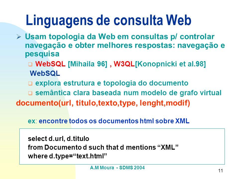 Linguagens de consulta Web