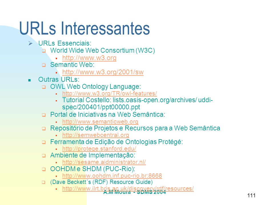URLs Interessantes URLs Essenciais: