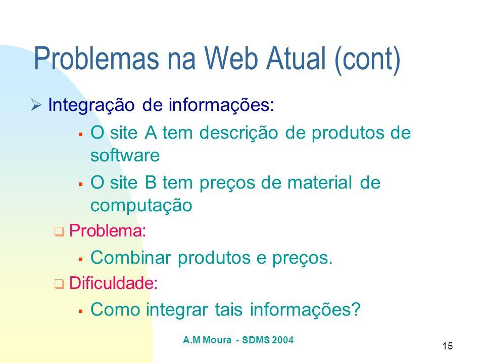 Problemas na Web Atual (cont)