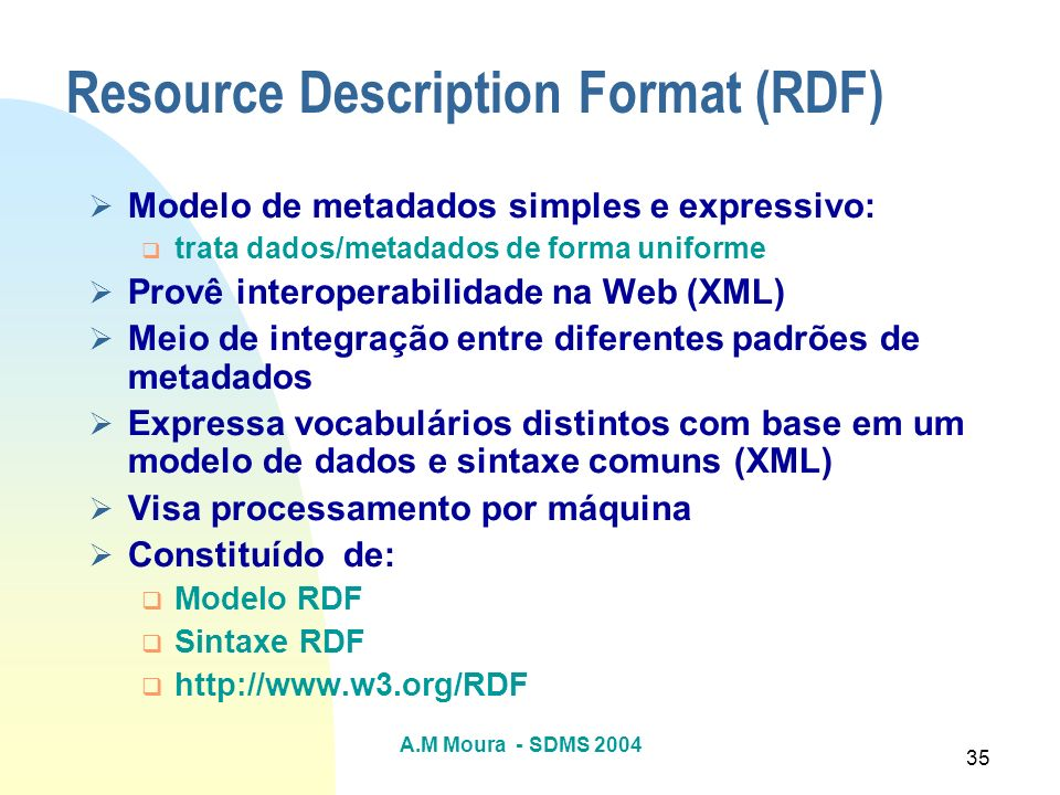 Resource Description Format (RDF)