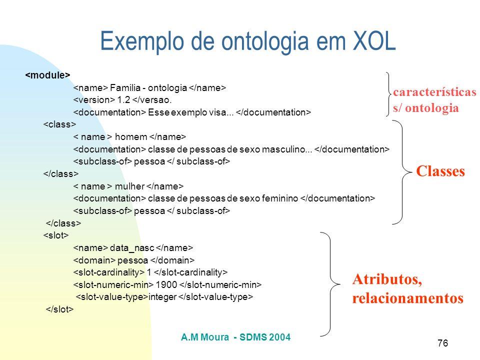 Exemplo de ontologia em XOL