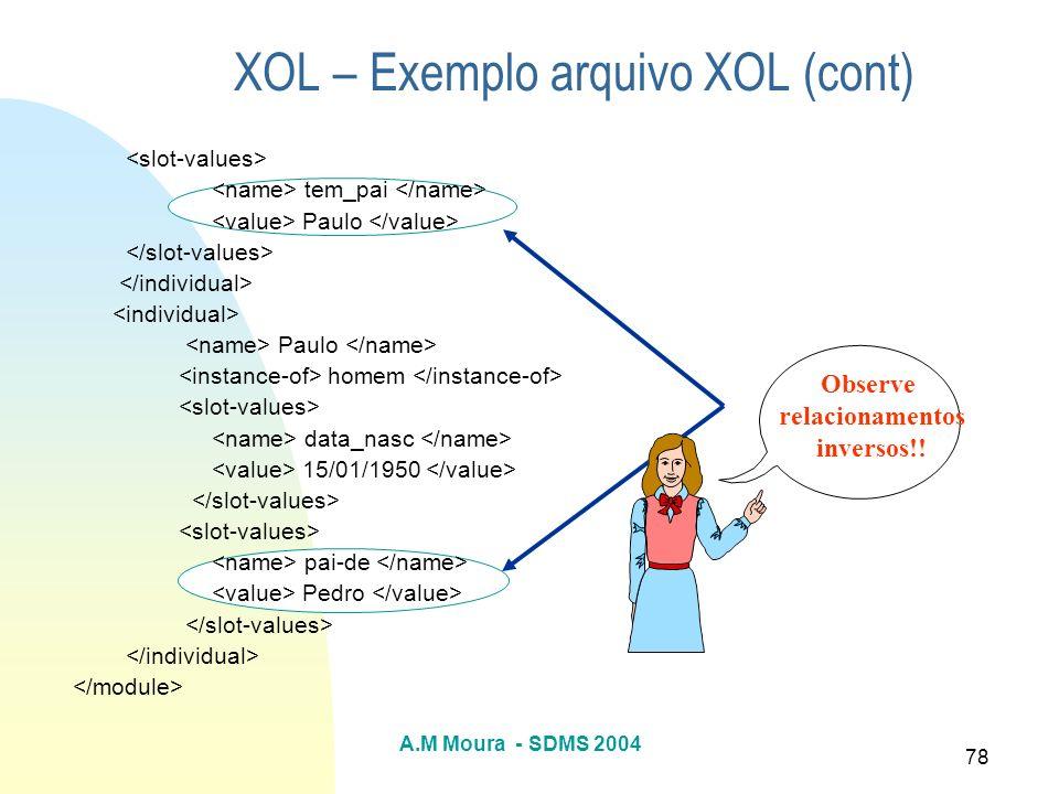 XOL – Exemplo arquivo XOL (cont)