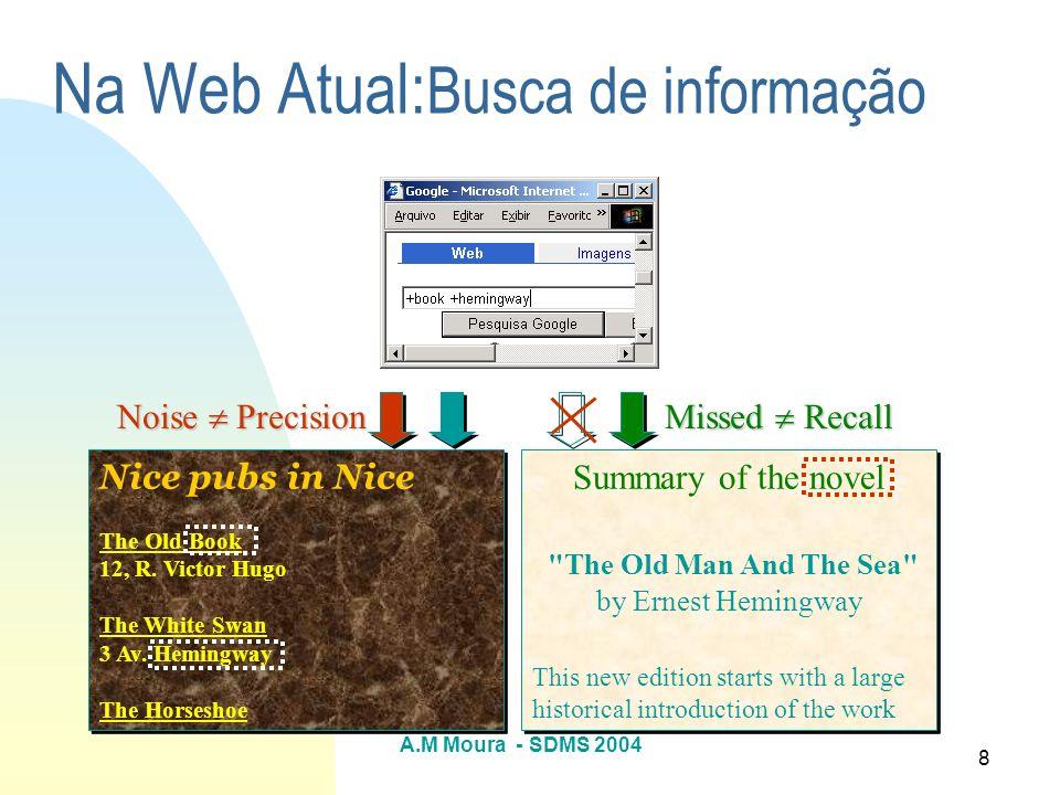 Na Web Atual:Busca de informação