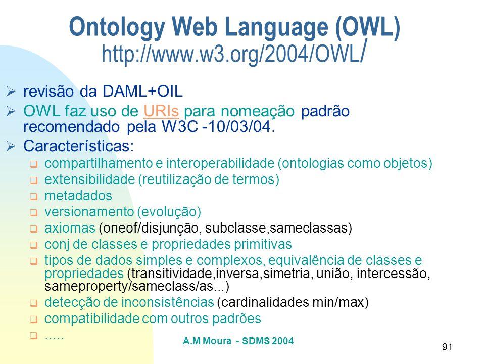 Ontology Web Language (OWL) http://www.w3.org/2004/OWL/