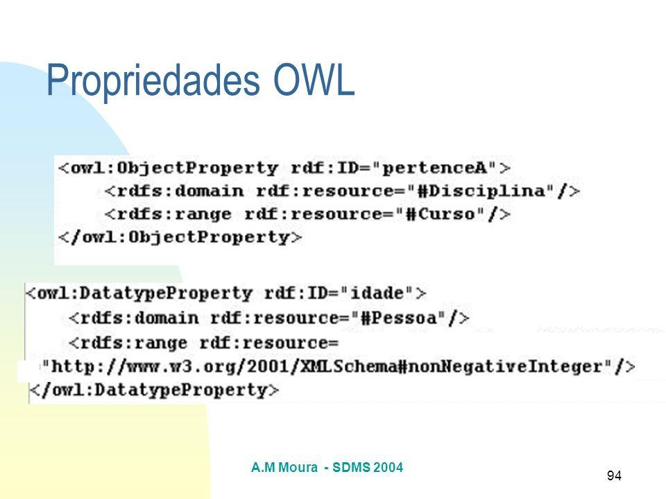Propriedades OWL A.M Moura - SDMS 2004