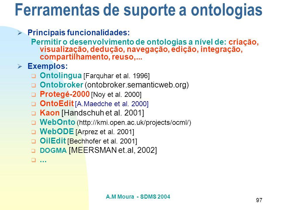 Ferramentas de suporte a ontologias