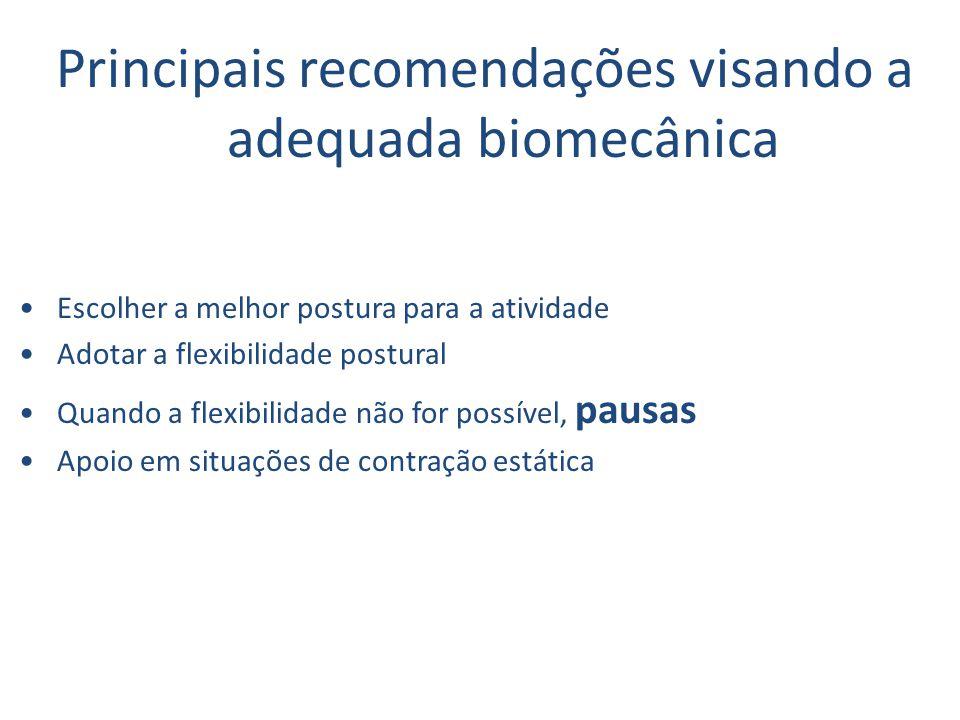 Principais recomendações visando a adequada biomecânica
