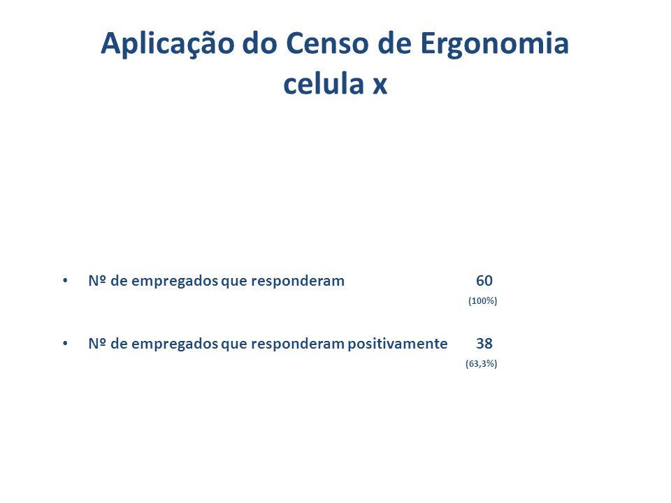 Aplicação do Censo de Ergonomia celula x