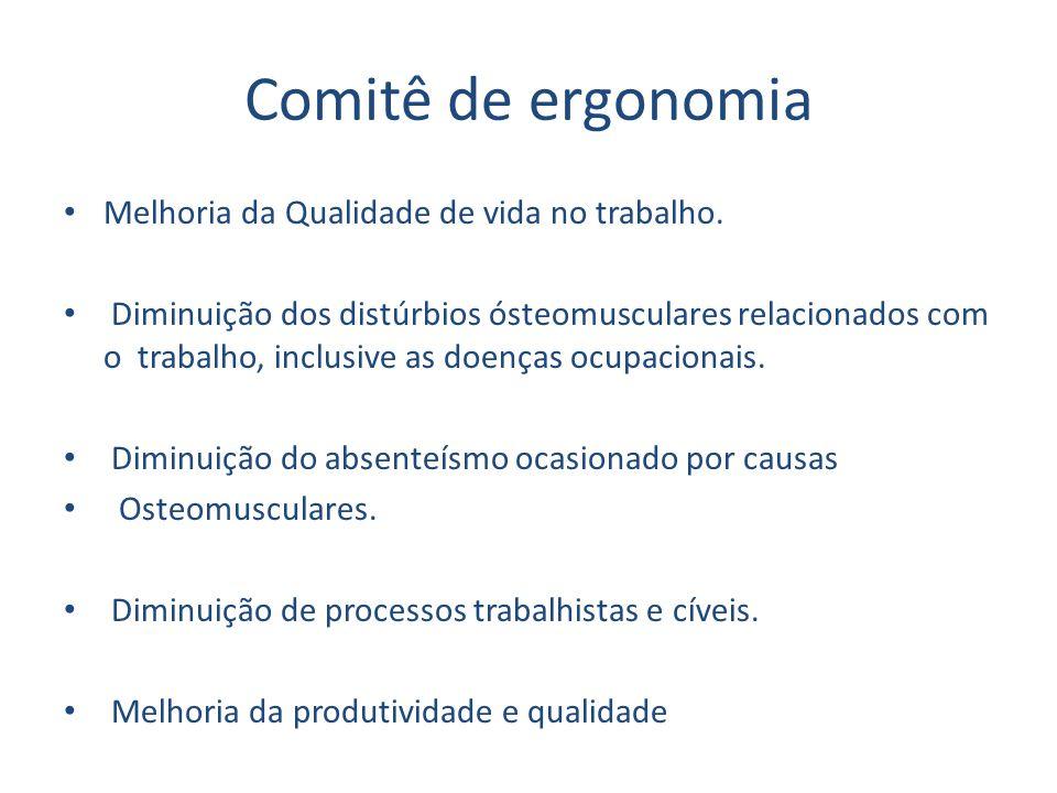 Comitê de ergonomia Melhoria da Qualidade de vida no trabalho.