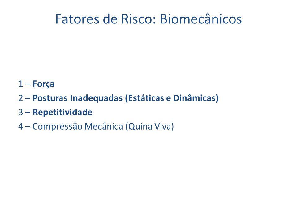 Fatores de Risco: Biomecânicos
