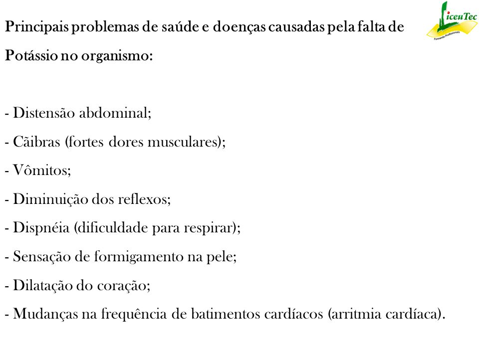 Principais problemas de saúde e doenças causadas pela falta de