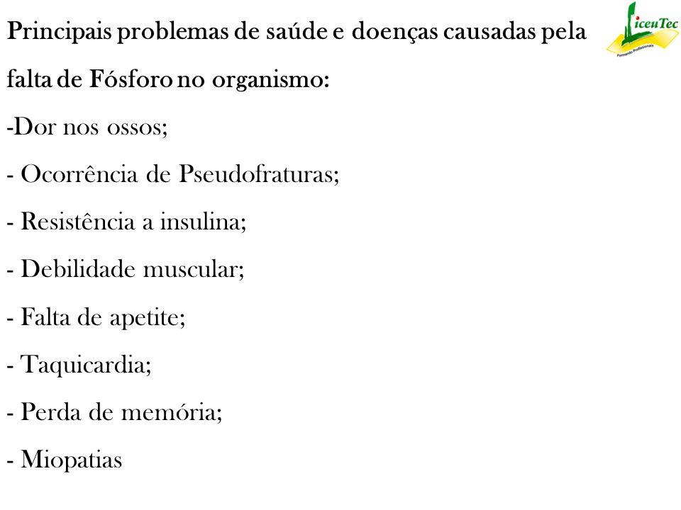 Principais problemas de saúde e doenças causadas pela
