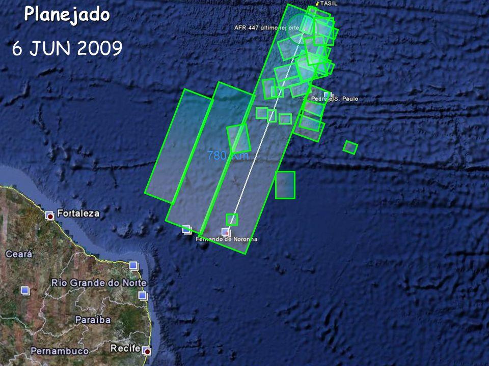Planejado 6 JUN 2009 780 Km