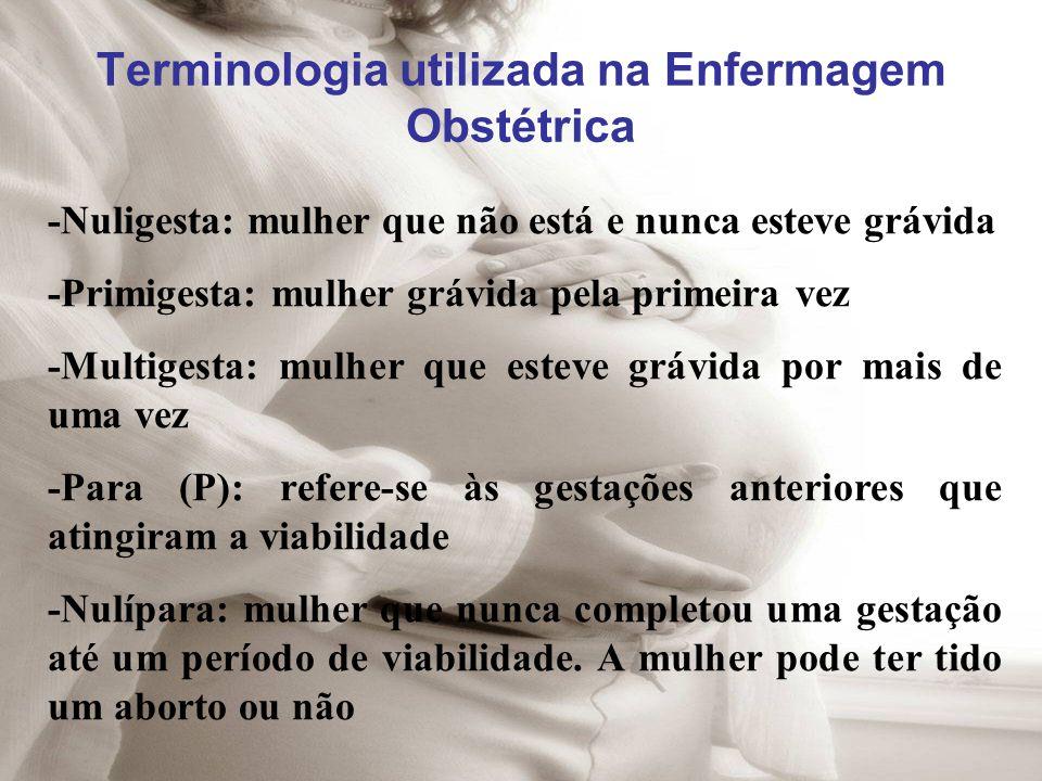 Terminologia utilizada na Enfermagem Obstétrica