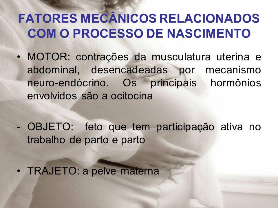 FATORES MECÂNICOS RELACIONADOS COM O PROCESSO DE NASCIMENTO
