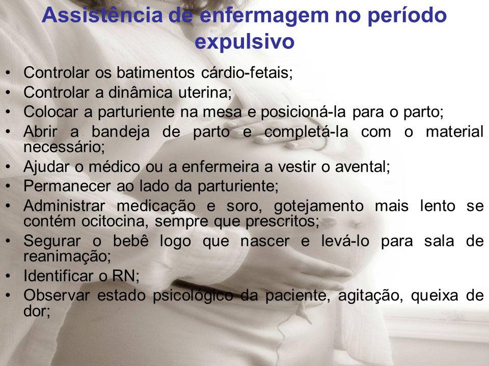 Assistência de enfermagem no período expulsivo