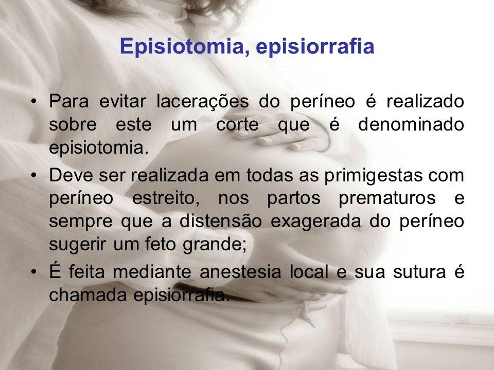 Episiotomia, episiorrafia
