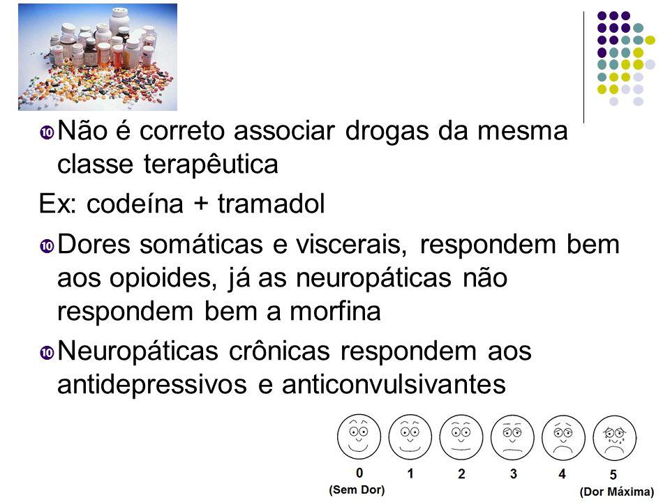 Não é correto associar drogas da mesma classe terapêutica