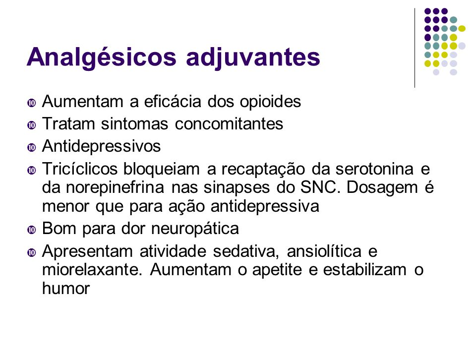 Analgésicos adjuvantes
