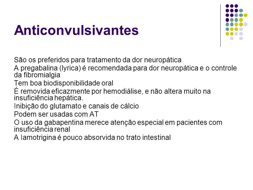 Anticonvulsivantes São os preferidos para tratamento da dor neuropática.