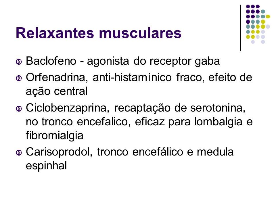 Relaxantes musculares