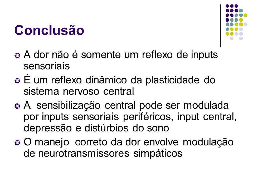 Conclusão A dor não é somente um reflexo de inputs sensoriais