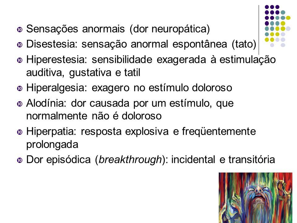 Sensações anormais (dor neuropática)