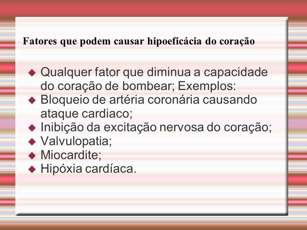 Fatores que podem causar hipoeficácia do coração