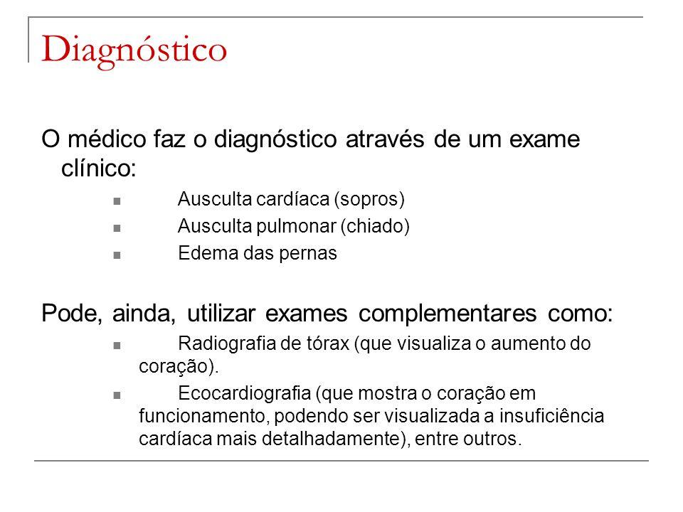 Diagnóstico O médico faz o diagnóstico através de um exame clínico: