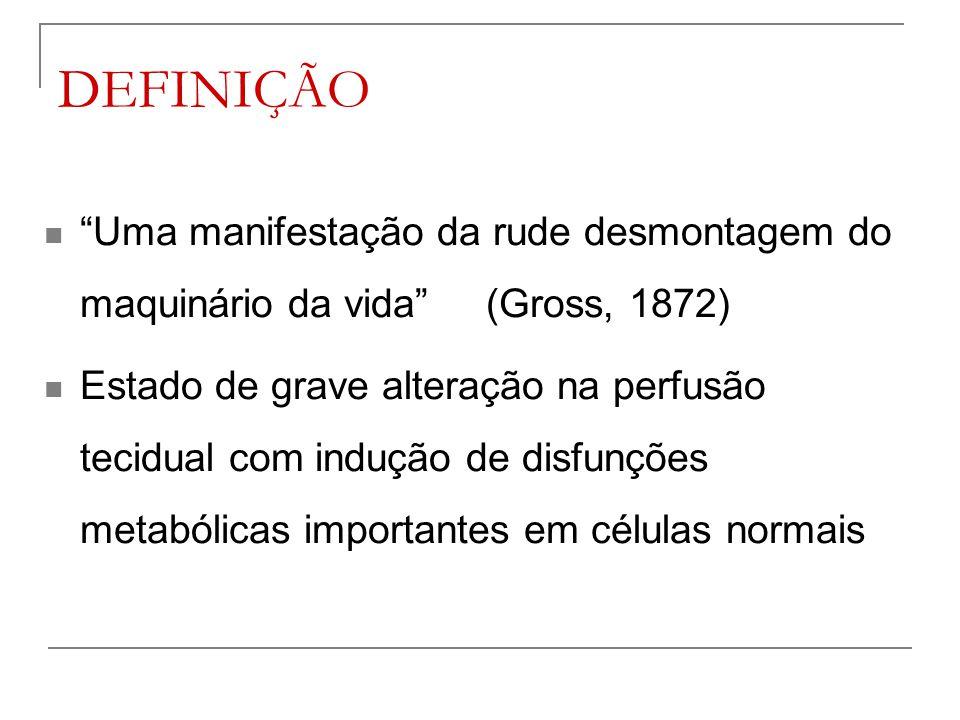 DEFINIÇÃO Uma manifestação da rude desmontagem do maquinário da vida (Gross, 1872)