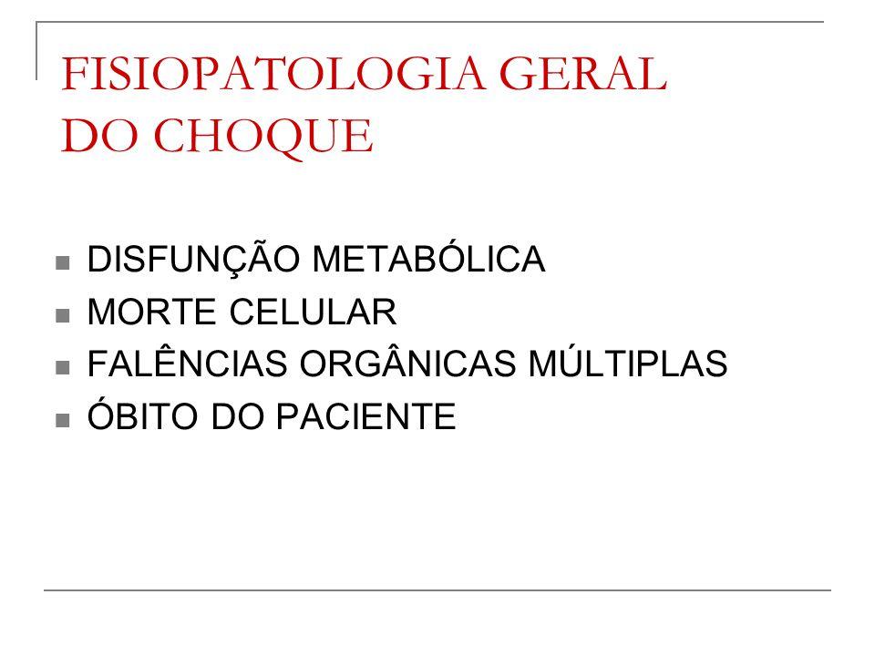 FISIOPATOLOGIA GERAL DO CHOQUE