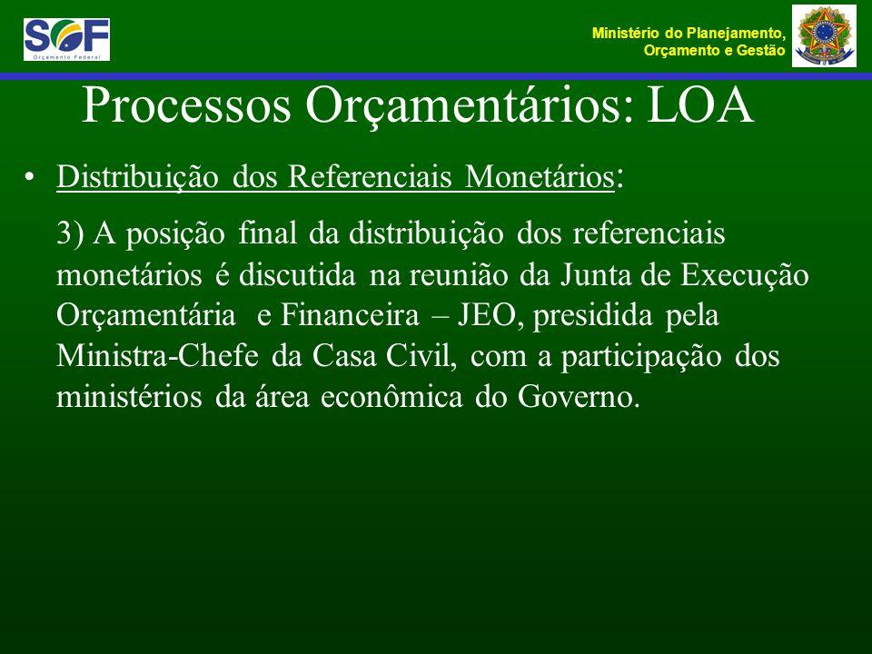 Processos Orçamentários: LOA