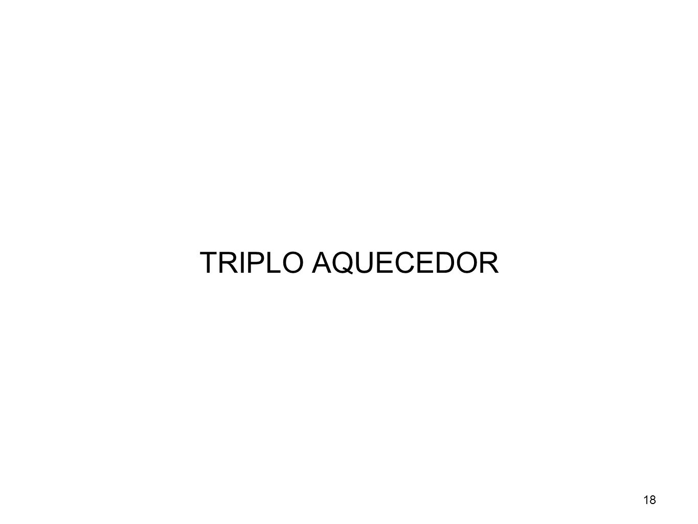 TRIPLO AQUECEDOR