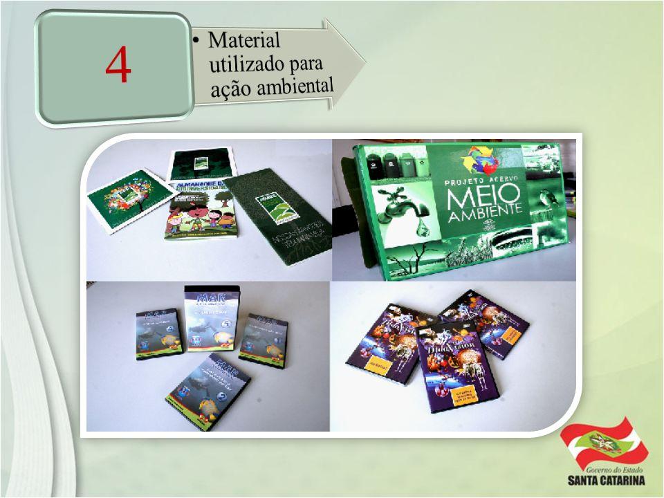 4 Material utilizado para ação ambiental