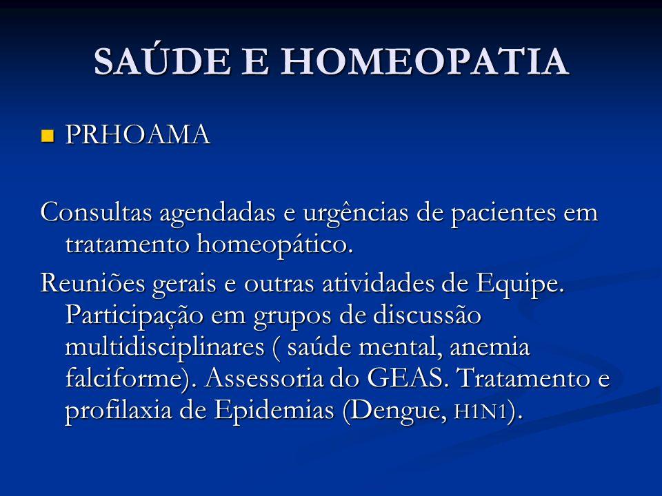 SAÚDE E HOMEOPATIA PRHOAMA