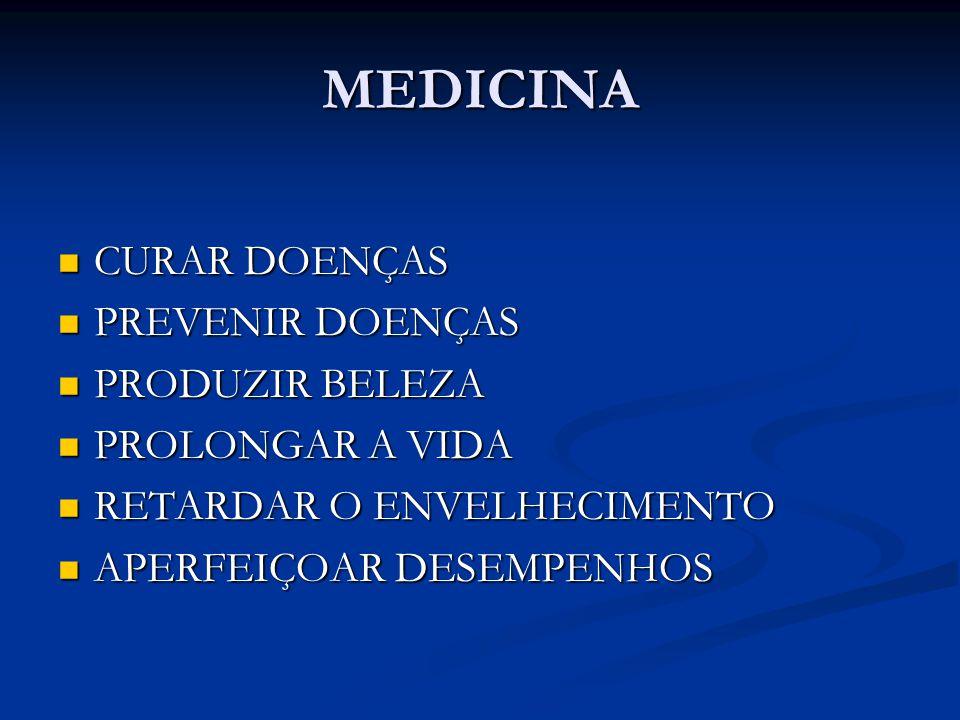 MEDICINA CURAR DOENÇAS PREVENIR DOENÇAS PRODUZIR BELEZA