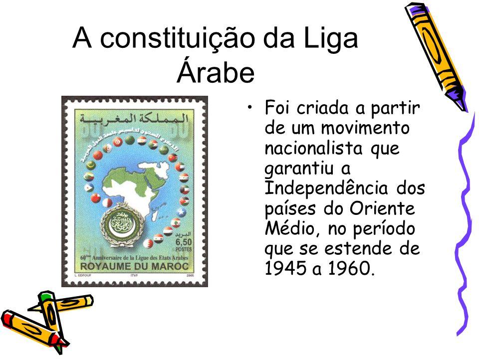 A constituição da Liga Árabe