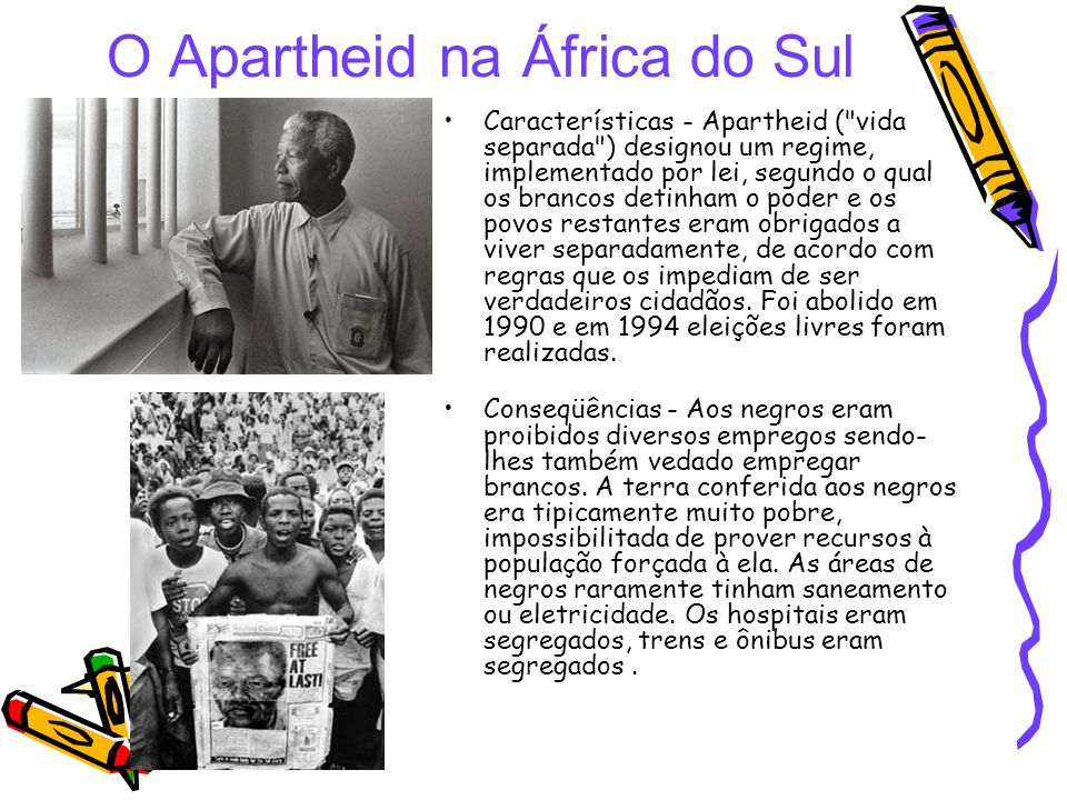 O Apartheid na África do Sul