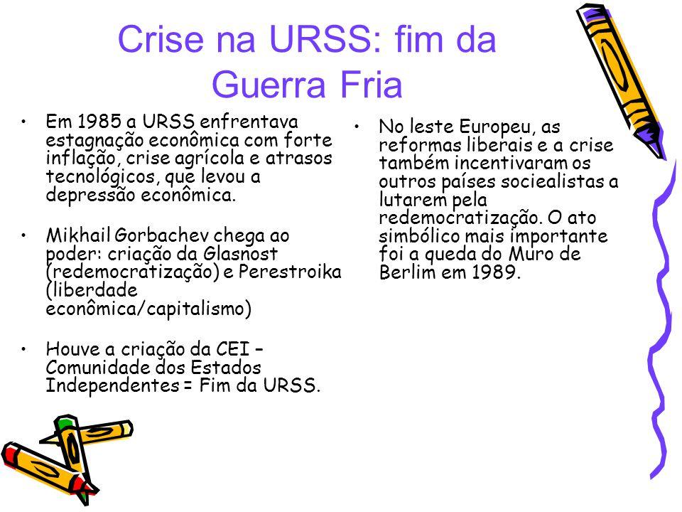 Crise na URSS: fim da Guerra Fria