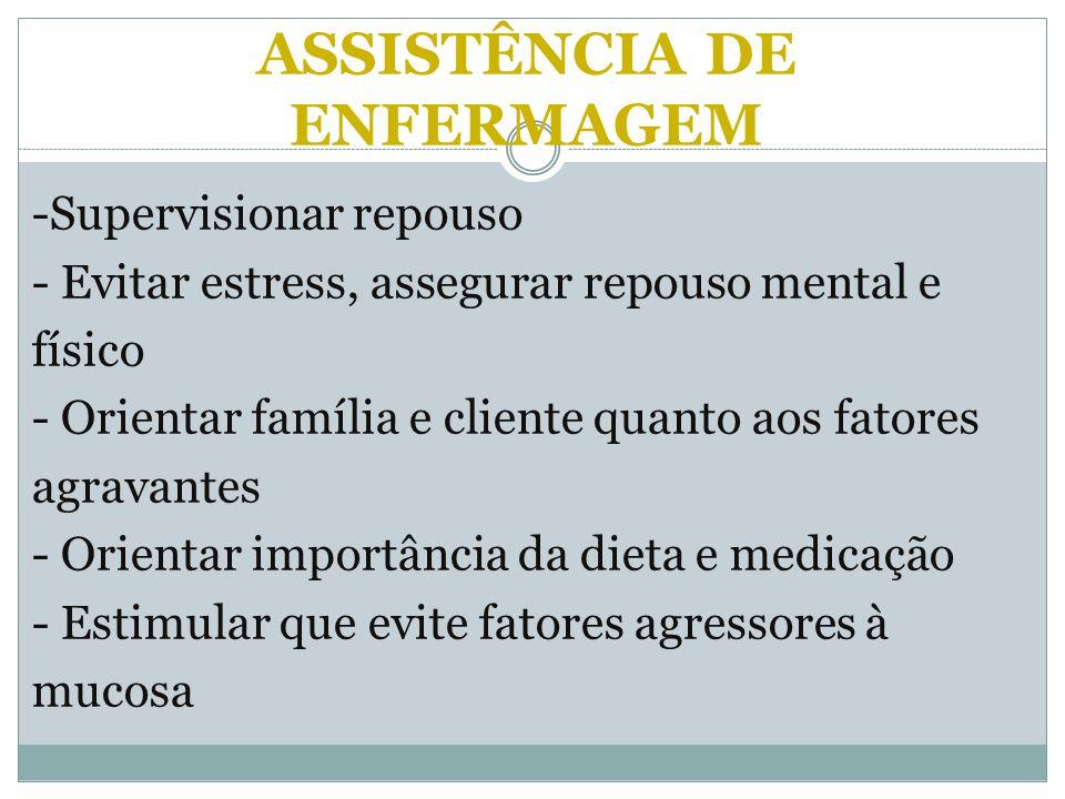 ASSISTÊNCIA DE ENFERMAGEM
