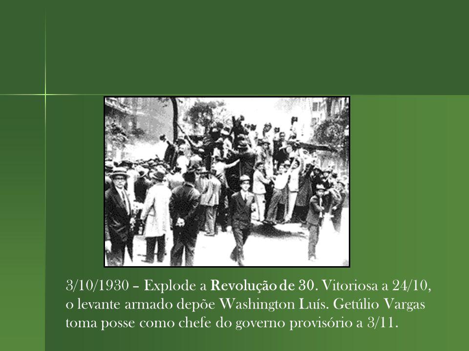 3/10/1930 – Explode a Revolução de 30
