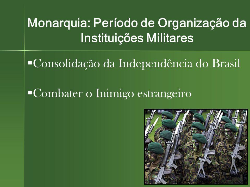 Monarquia: Período de Organização da Instituições Militares