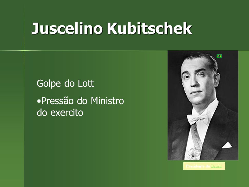 Juscelino Kubitschek Golpe do Lott Pressão do Ministro do exercito