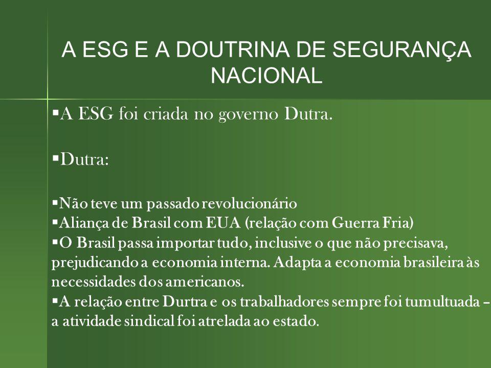 A ESG E A DOUTRINA DE SEGURANÇA NACIONAL