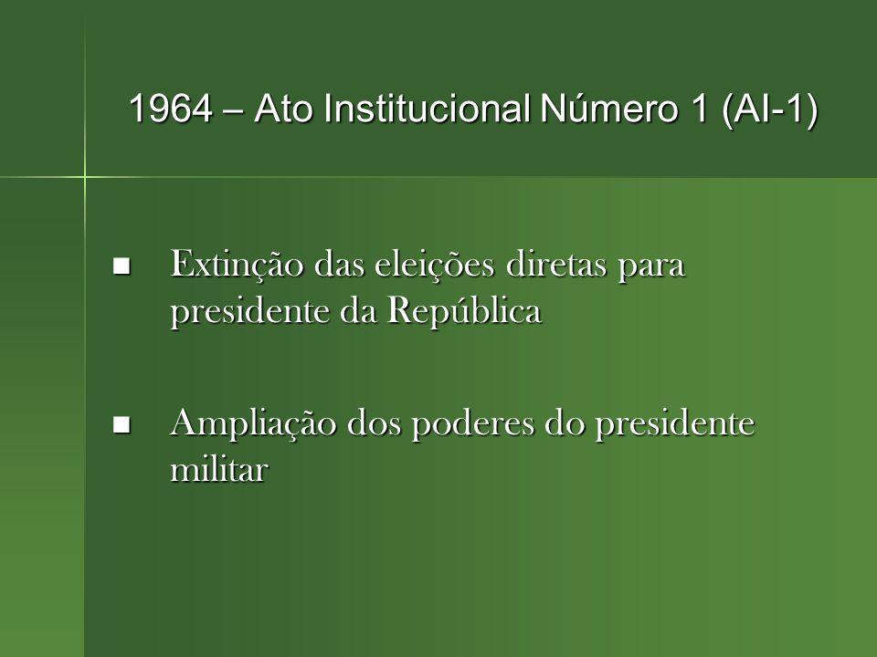 1964 – Ato Institucional Número 1 (AI-1)