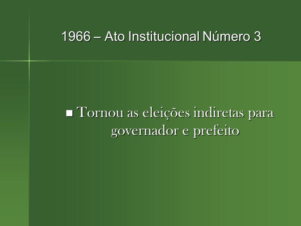 1966 – Ato Institucional Número 3