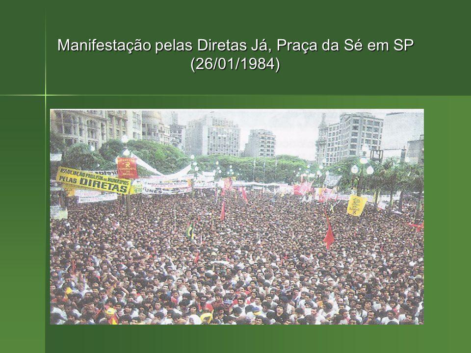 Manifestação pelas Diretas Já, Praça da Sé em SP (26/01/1984)