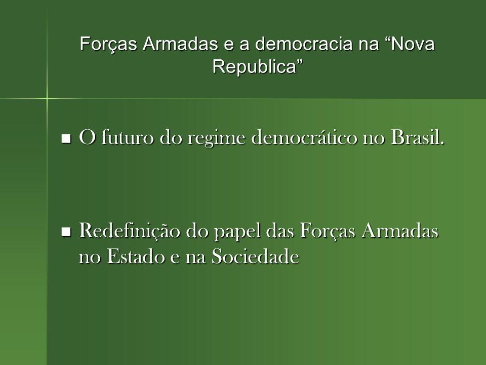 Forças Armadas e a democracia na Nova Republica