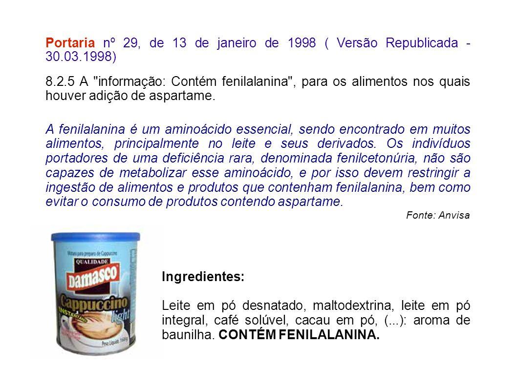 Portaria nº 29, de 13 de janeiro de 1998 ( Versão Republicada - 30. 03